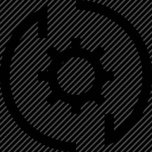 arrow, cog, down, gear, settings, up, wheel icon