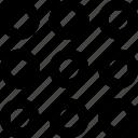 ellipsis, layout, loading, radio, settings icon