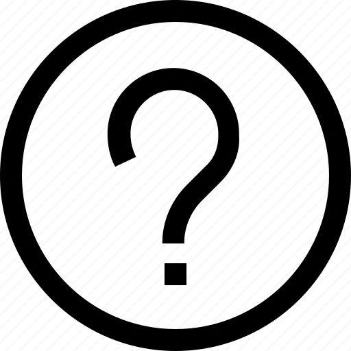 ask, circle, questionmark, round icon