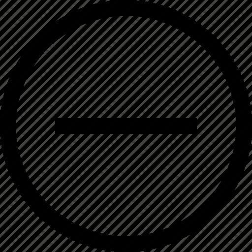 circle, delete, minus, round icon