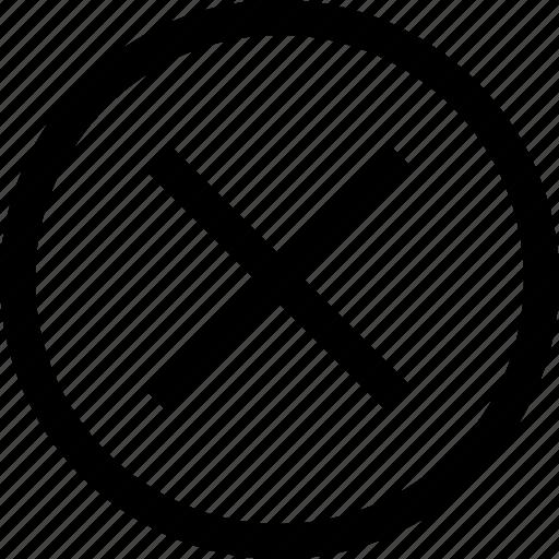 cancel, circle, cross, no, round icon