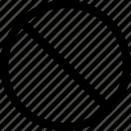 circle, cross, forbidden, no, round icon