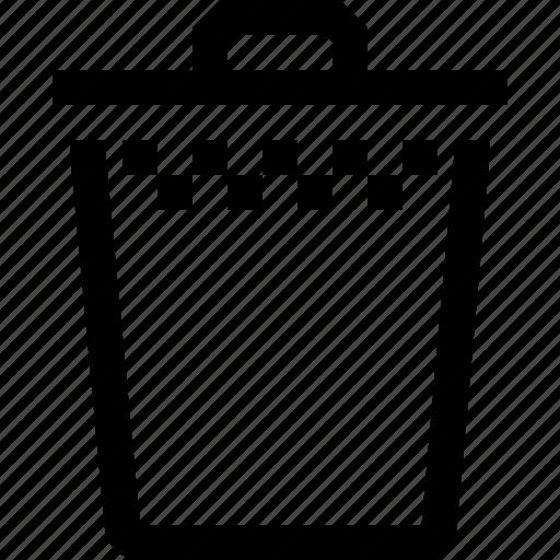 bin, can, computer, empty, files, full, trash icon