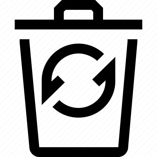 bin, can, empty, recycle, refresh, sync, trash icon