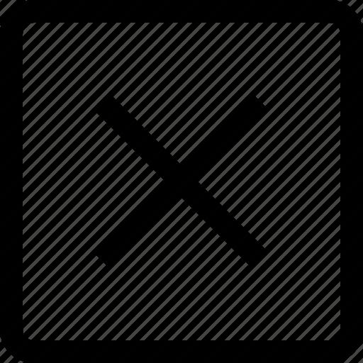 cancel, cross, no, square icon