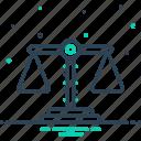 balance, comparison, equilibration, equilibrium, judgment, poise, scale icon