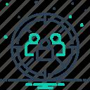 audience, destination, focus, market target, optimization, target, user icon