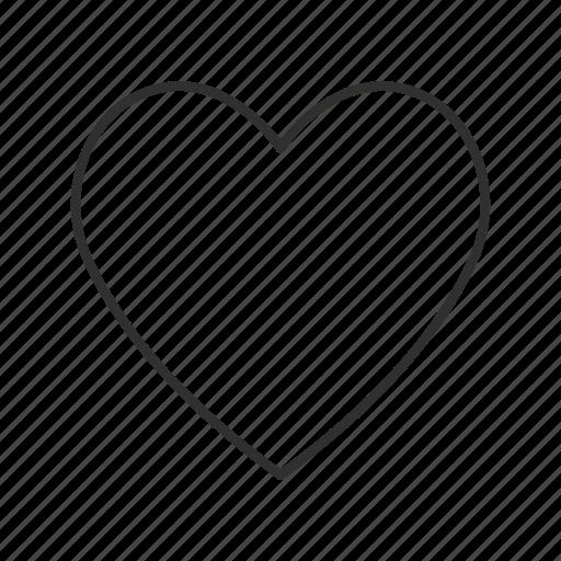feelings, heart, inlove, love, passionate, plain heart, values icon
