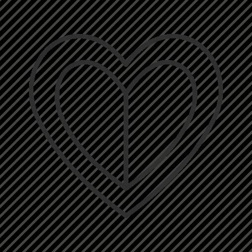 broken heart, heart, heart with line across, love, outline heart, sad, values icon