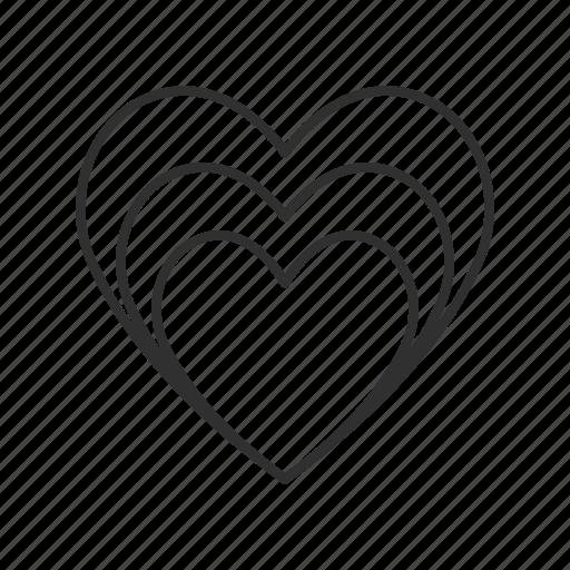 couple, hearts, inlove, love, marriage, ripple heart, values icon