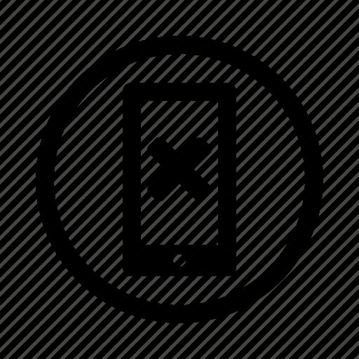 cell, delete, error, mobile, phone, remove icon