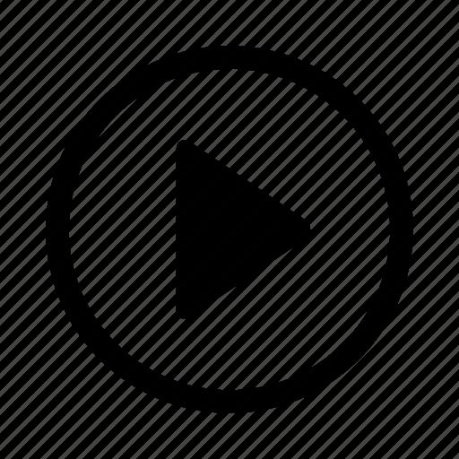 arrow, forward, next, play, right icon