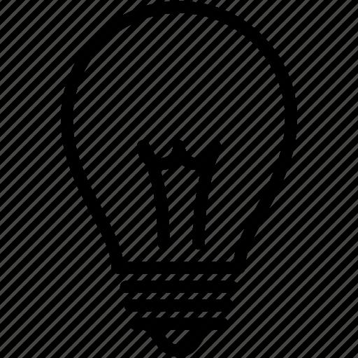 bulb, electric, electricity, idea, lamp, light, lightbulb icon