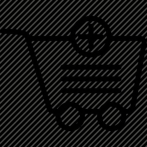 add, buy, cart, ecommerce, plus, shop, shopping icon