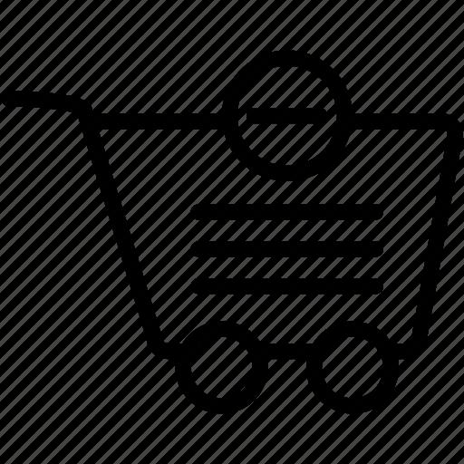 buy, cart, ecommerce, market, minus, shop, shopping icon