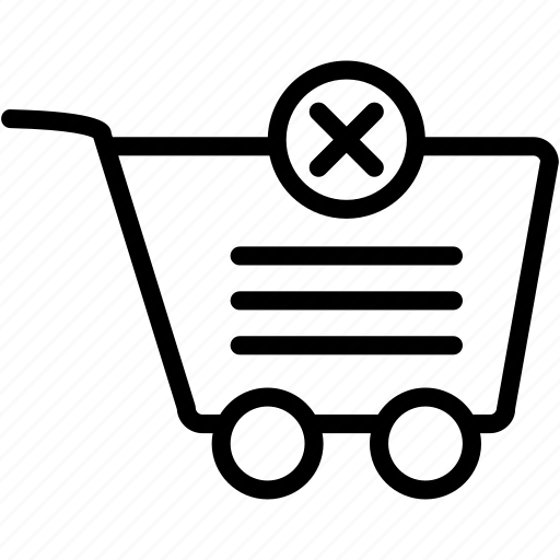 cart, delete, ecommerce, remove, shop, shopping, store icon