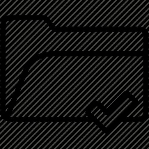 accept, check, data, document, file, folder, storage icon