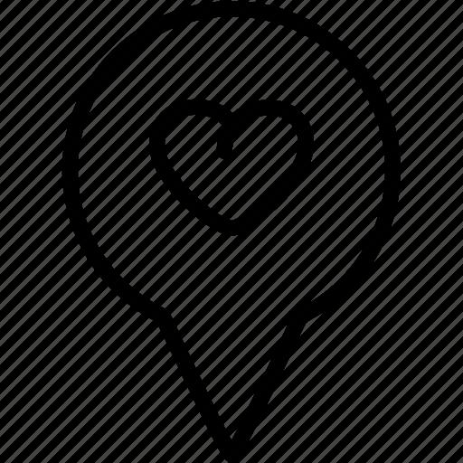 gps, heart, location, love, marker, market, pin icon