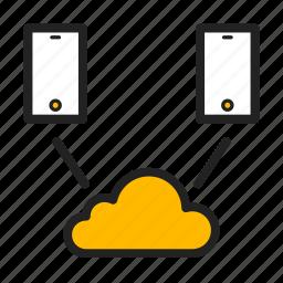 cloud, icloud, network, phone icon