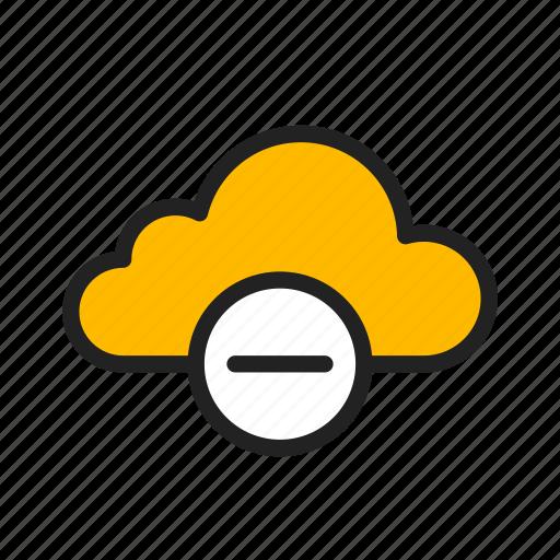 cloud, icloud, minus, stop syncing icon