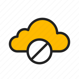 cancel, cloud, delete, icloud, stop syncing icon