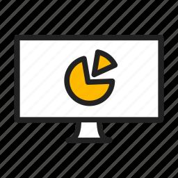 analytics, chart, imac, monitor, report icon