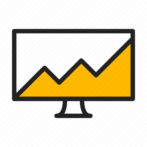 analytics, graph, growth, imac, increase, schedule icon