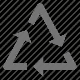 arrows, refresh, reload, sync, triangle icon