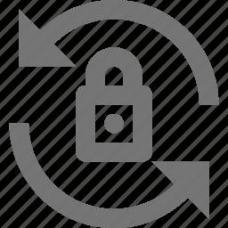 arrows, lock, refresh, reload, secure, sync icon