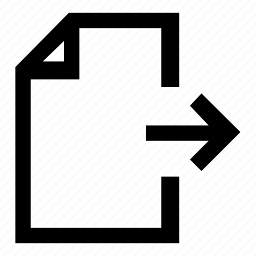 document, edit, expand, open, publish icon