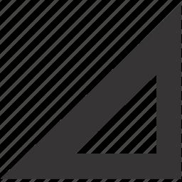 measure, measurement, measuring, scale, triangle icon