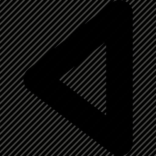 arrow, left, left triangle, triangle icon