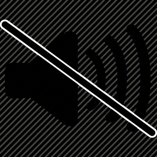 no, no volume, speaker, volume icon