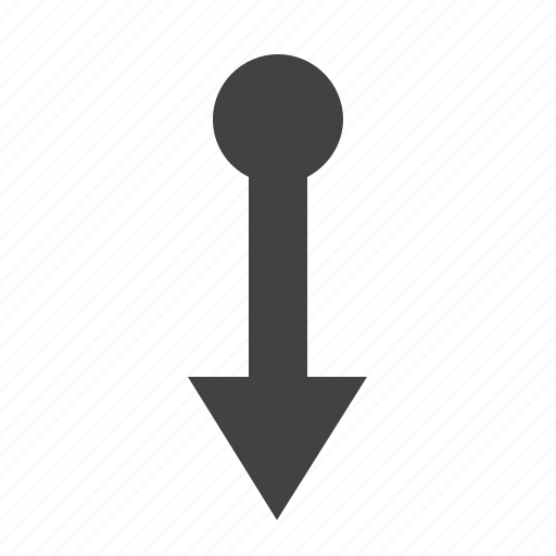 arrow, bottom, down, move, movement icon