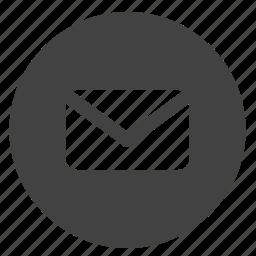 letter, mail, mailbox, message, round, ui icon