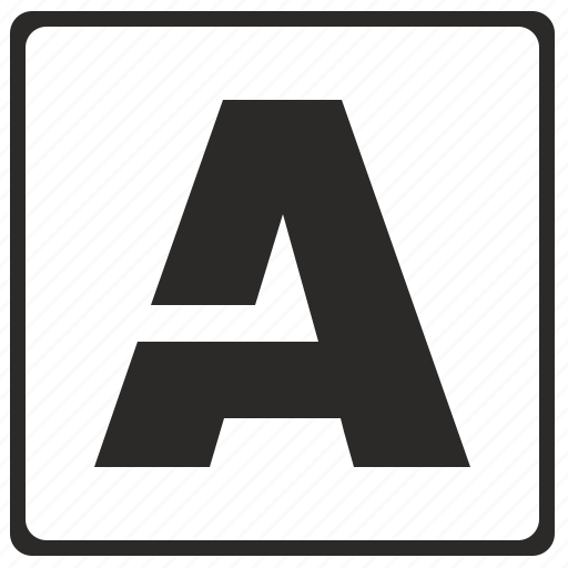 a, alphabet, border, latin, letter, modern icon