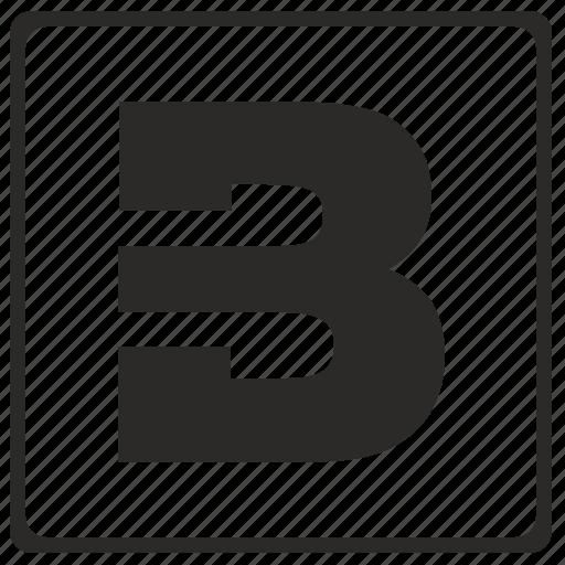 alphabet, b, latin, letter, modern icon
