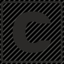 alphabet, c, latin, letter, modern icon
