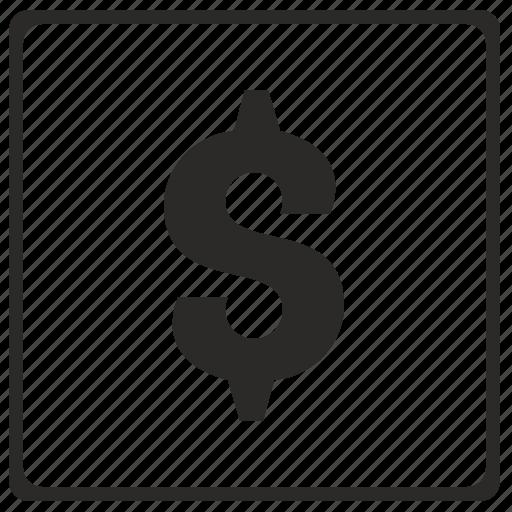 alphabet, dollar, latin, letter, modern icon