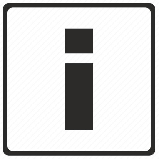 alphabet, i, latin, letter, modern icon
