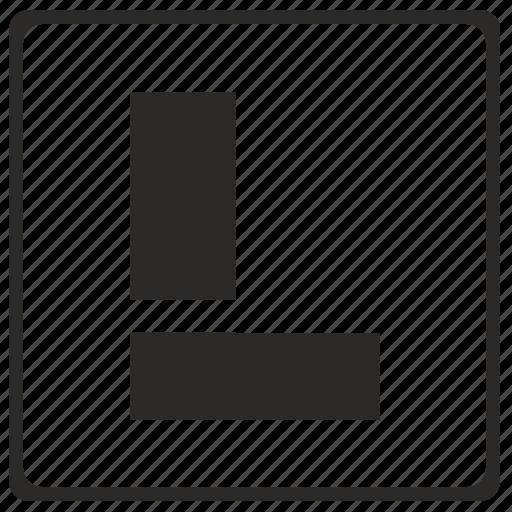 alphabet, l, latin, letter, modern icon