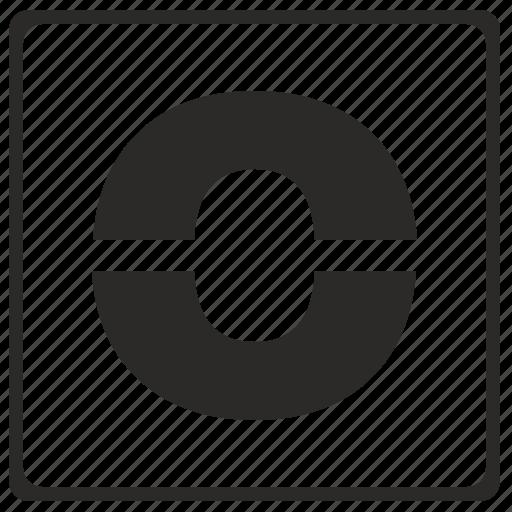 alphabet, latin, letter, modern, o icon