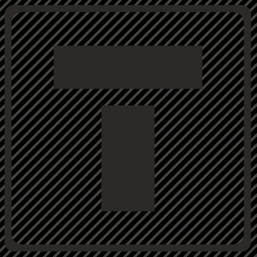 alphabet, latin, letter, modern, t icon