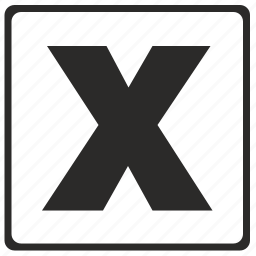 alphabet, latin, letter, modern, x icon