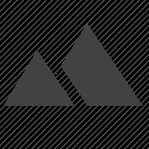 hill, mound, mountains, nature, ui icon