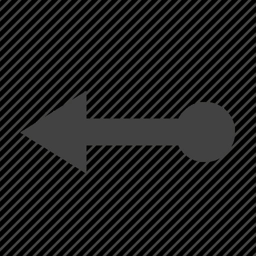 arrow, left, move, movement icon