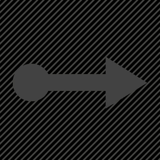 arrow, move, movement, right icon