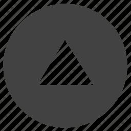 arrow, navigation, round, top, ui, up icon
