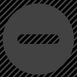 minus, round, scale, stop, ui icon