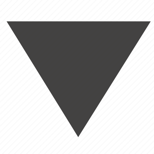 arrow, bottom, down, triangle, ui icon